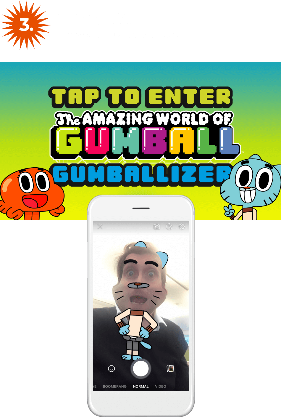 Gumball tap to enter
